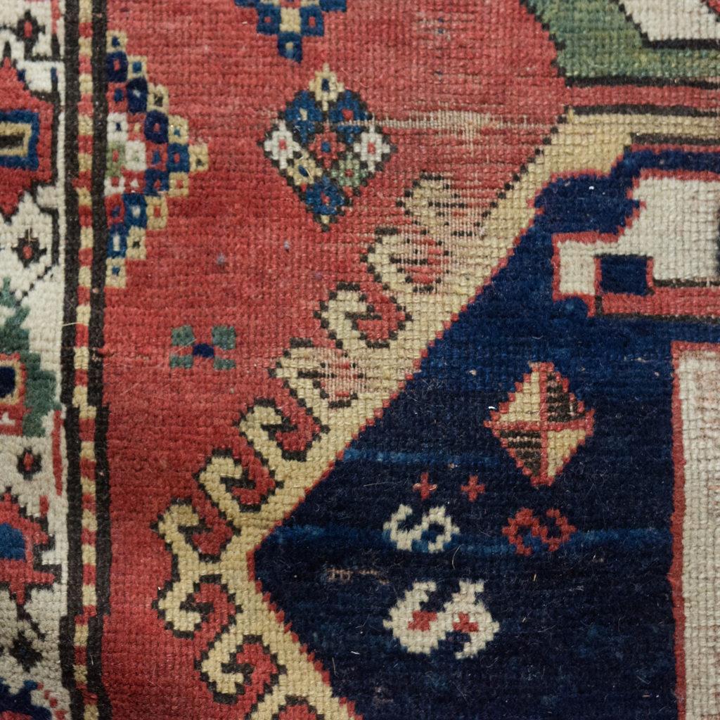 An antique Caucasian Kazak carpet,-100020