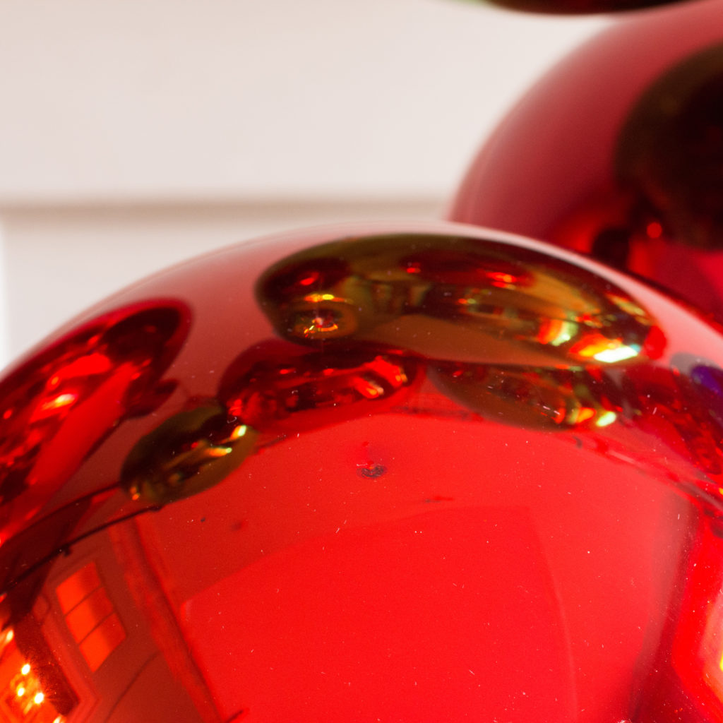 Large hand blown coloured glass Christmas baubles,-100044