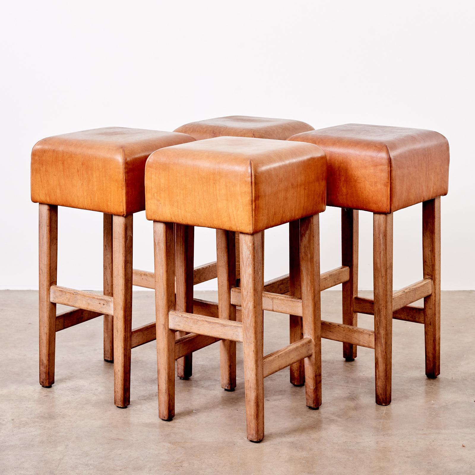 Contemporary Oak And Tan Leather Bar Stool Lassco England S Prime Resource For Architectural Antiques Salvage Curiosities