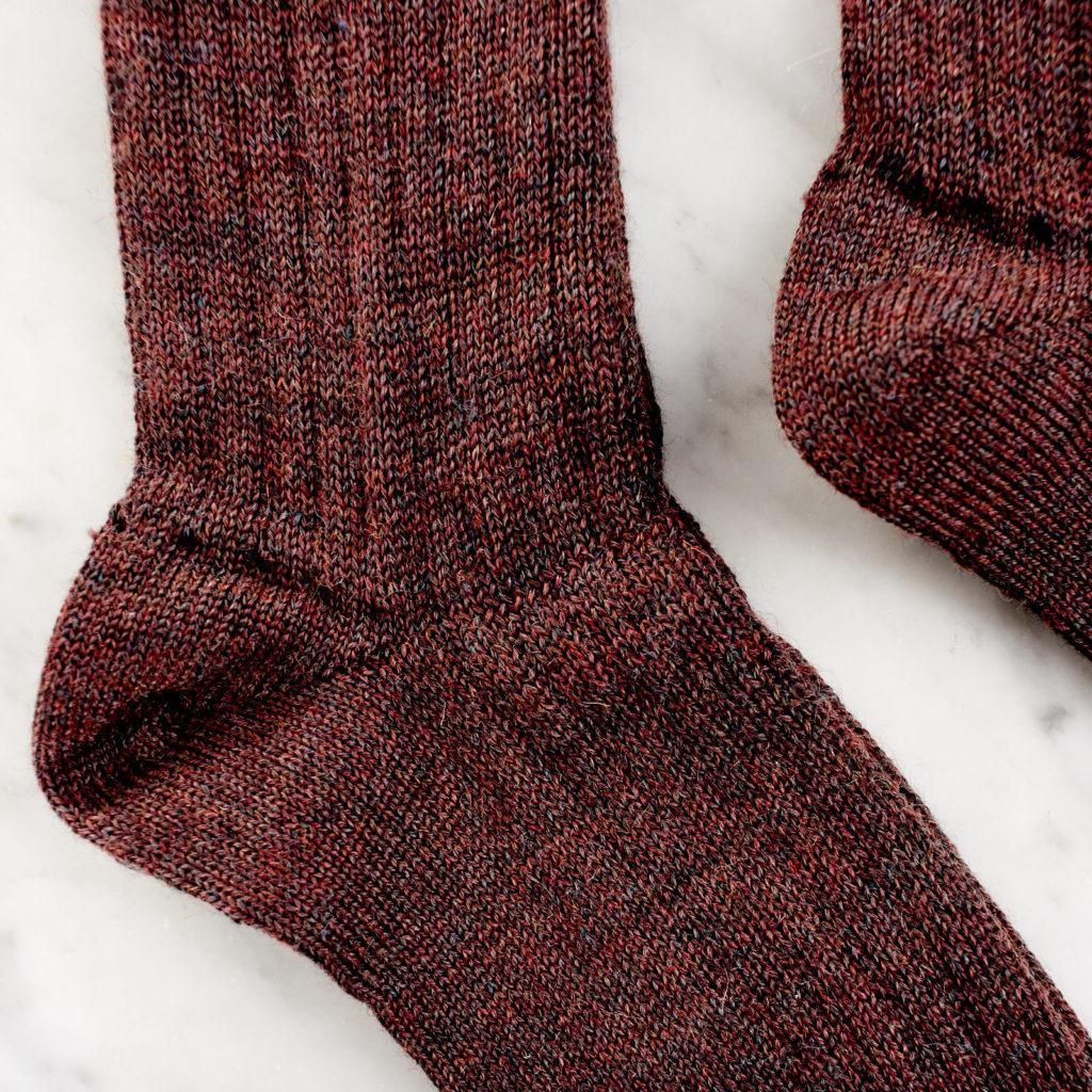 A pair of woollen socks,-101227
