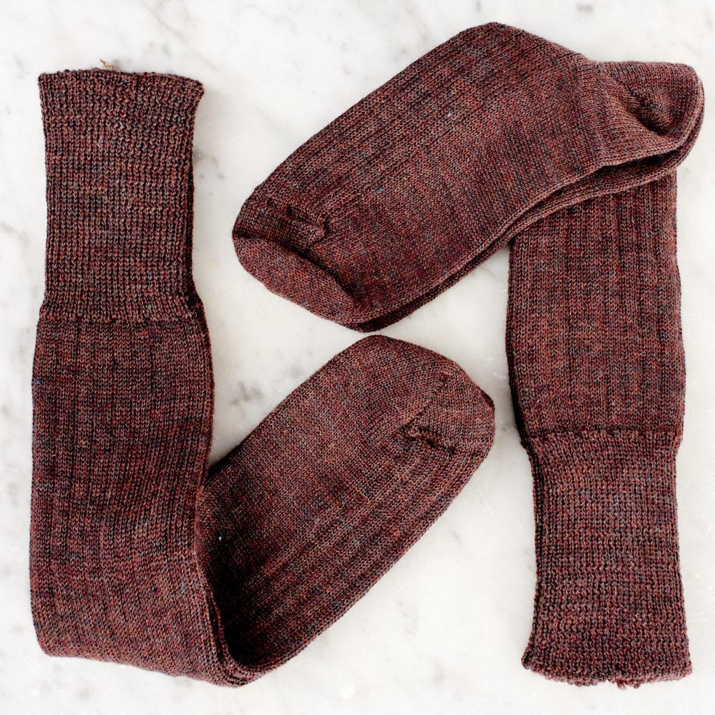 A pair of woollen socks,-101229