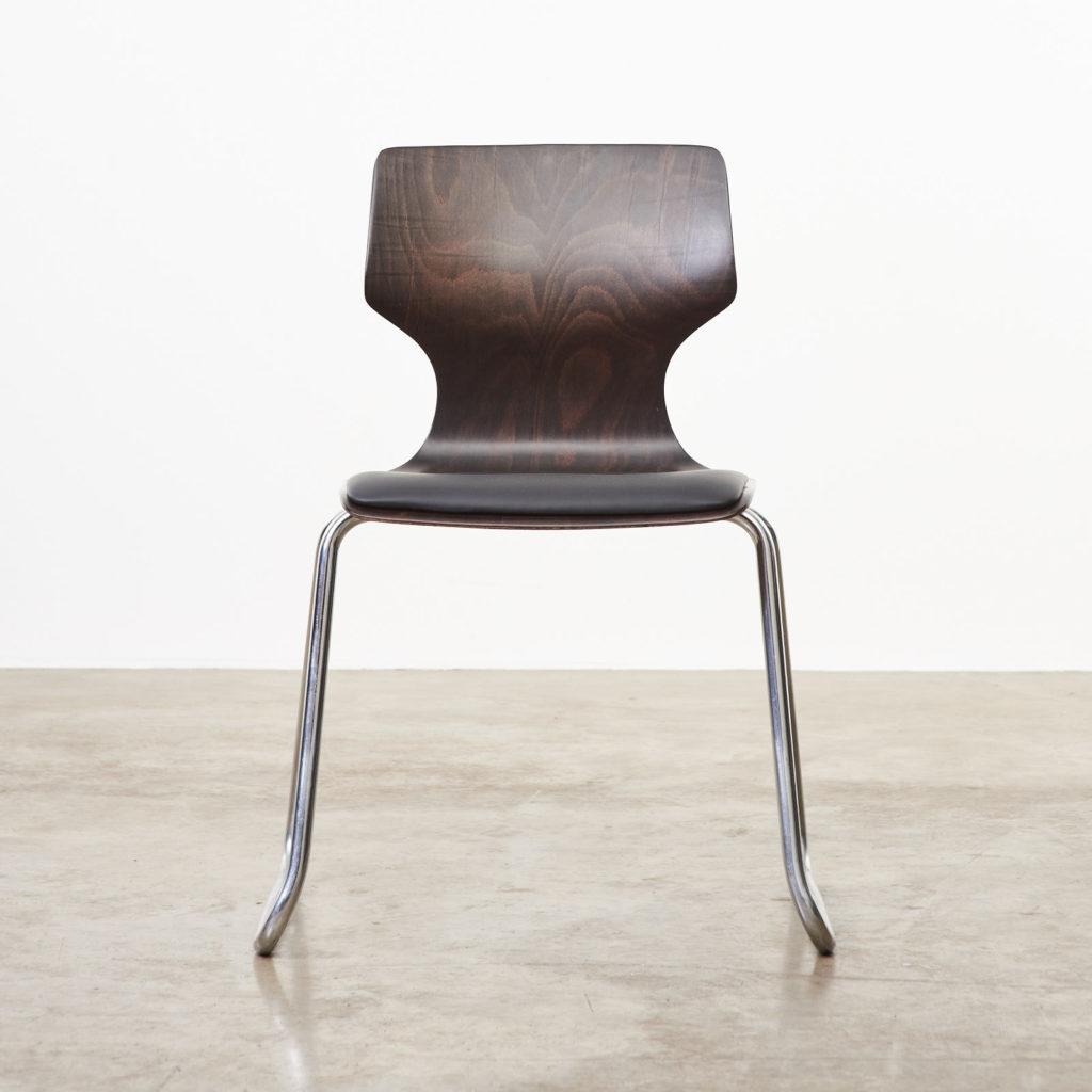 Pagwood and leather dining chair,-101454