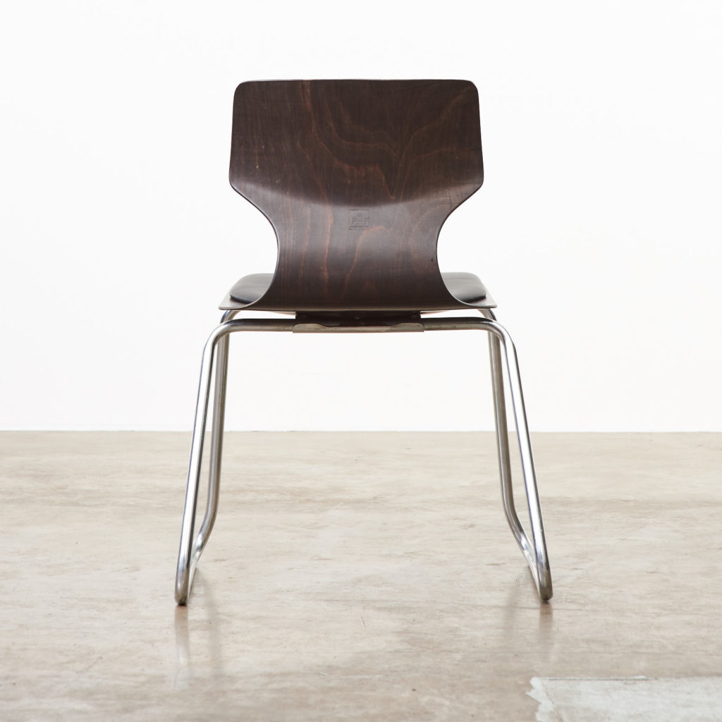 Pagwood and leather dining chair,-101464
