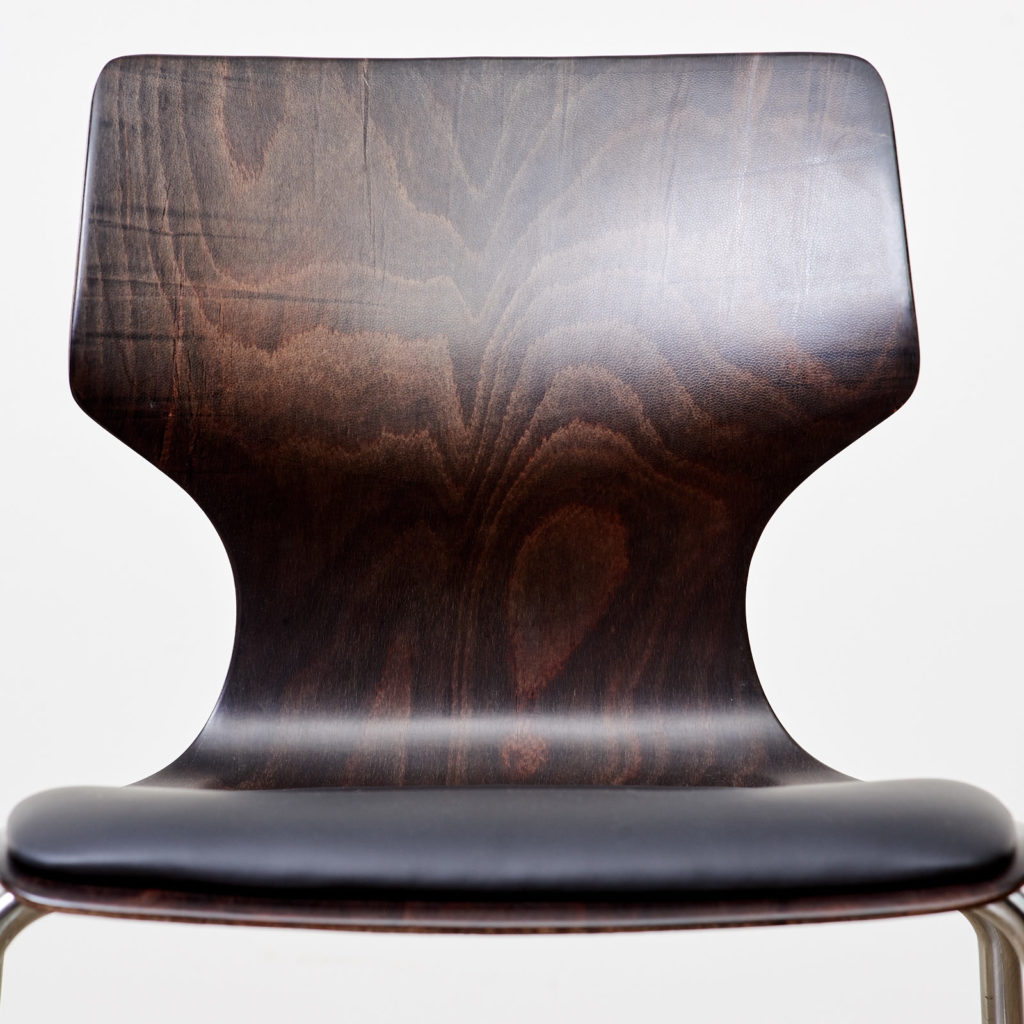 Pagwood and leather dining chair,-101453