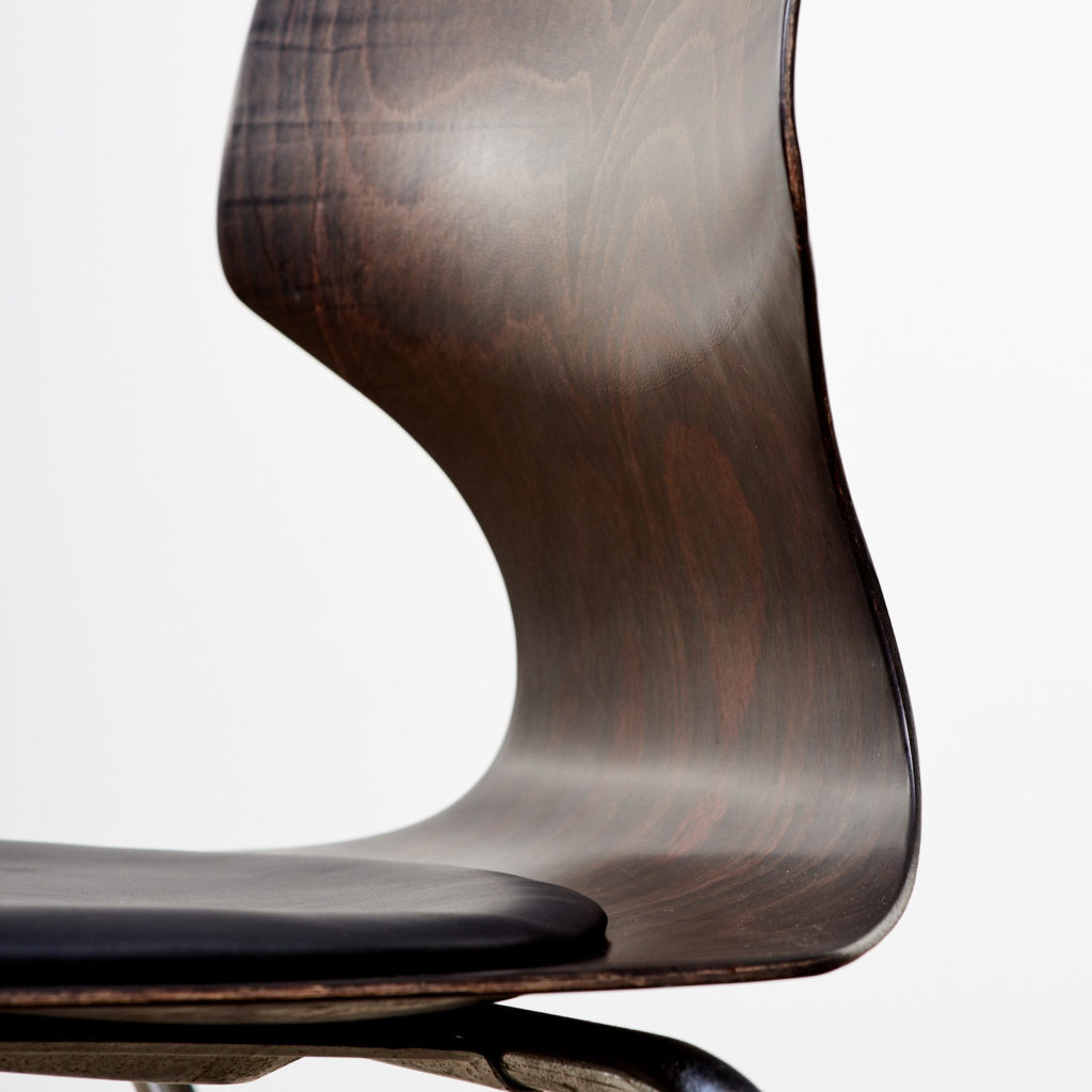 Pagwood and leather dining chair,-101463
