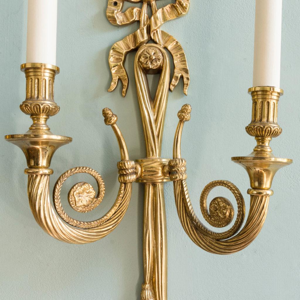 Louis XVI style brass wall light-101408