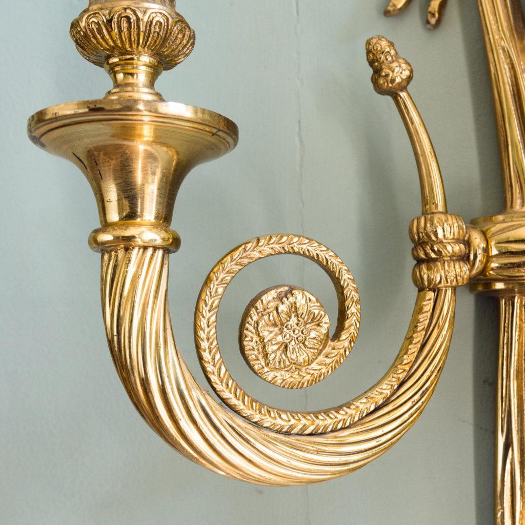 Louis XVI style brass wall light-101410