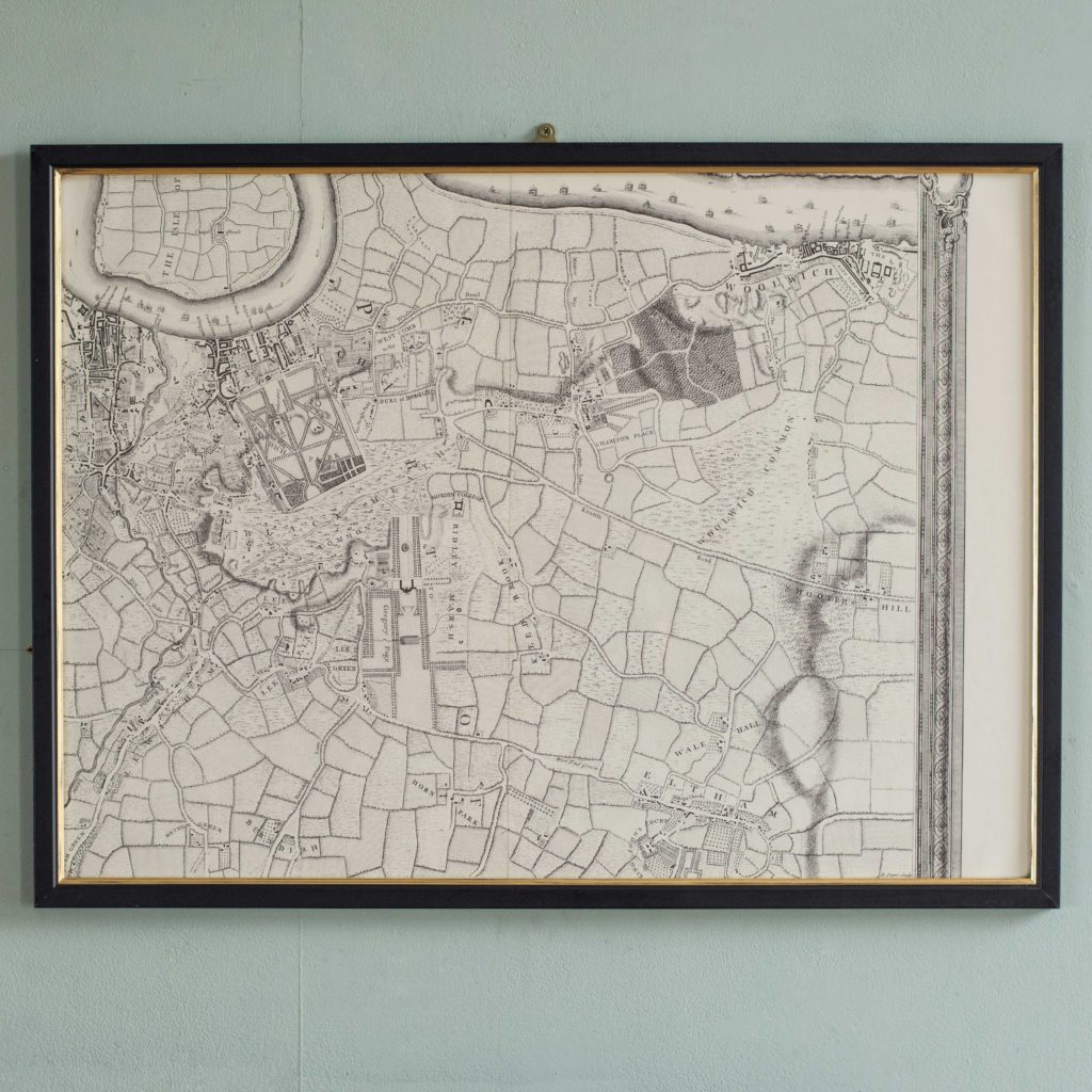 The environs of London in 1746. Impressive sixteen sheet set. -101997