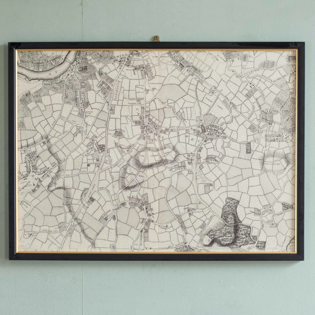 The environs of London in 1746. Impressive sixteen sheet set. -102000