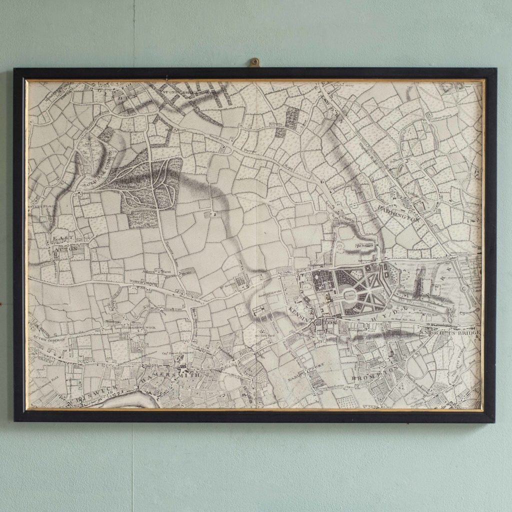The environs of London in 1746. Impressive sixteen sheet set. -101985