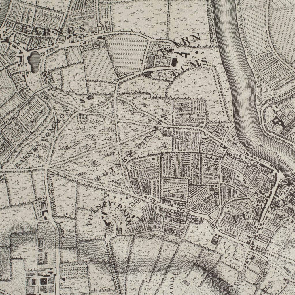 The environs of London in 1746. Impressive sixteen sheet set. -101993