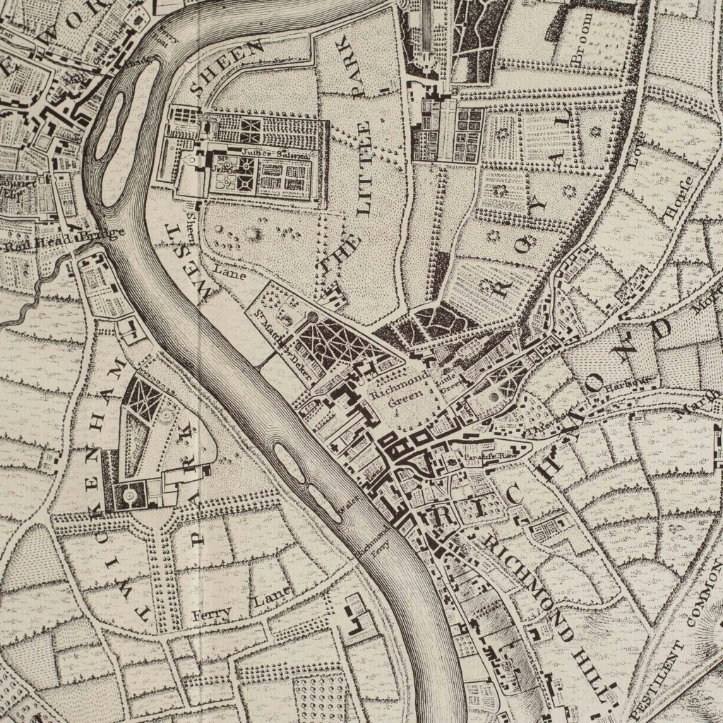 The environs of London in 1746. Impressive sixteen sheet set. -101989