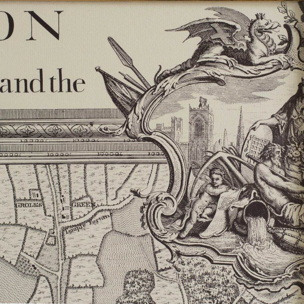 The environs of London in 1746. Impressive sixteen sheet set. -101981