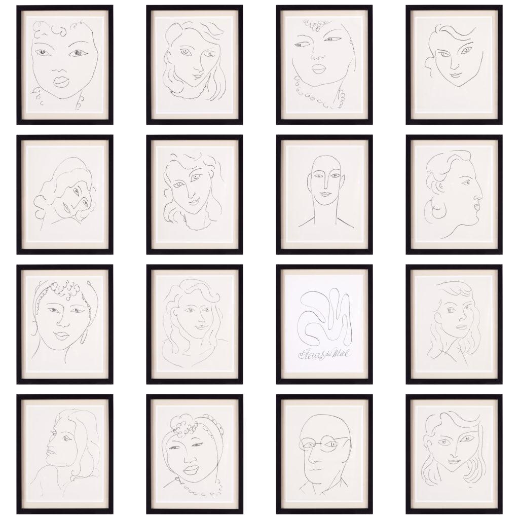 Matisse 'Les Fleurs Du Mal' lithograph,-102238
