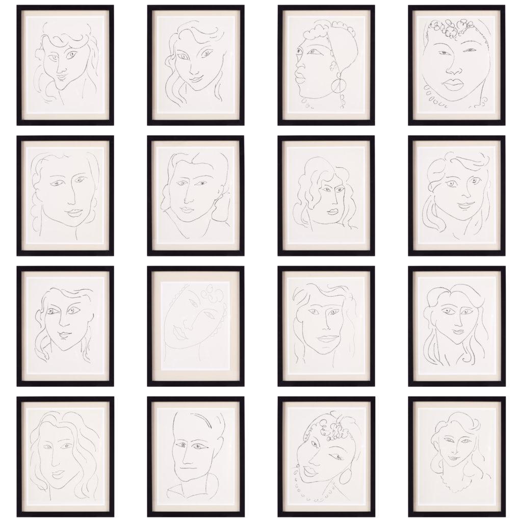 Matisse 'Les Fleurs Du Mal' lithograph,-102211