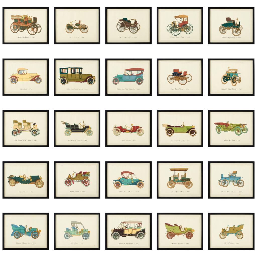 Original 'Gallery of the American Automobile' Screenprint,-102955