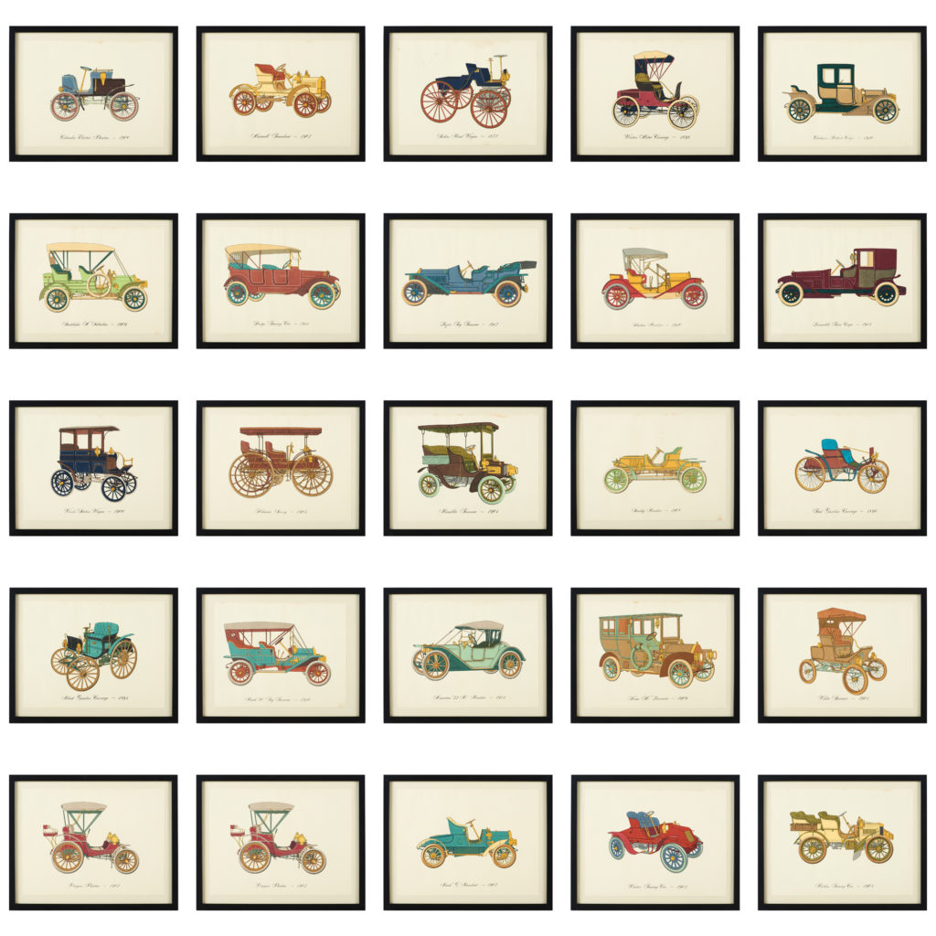 Original 'Gallery of the American Automobile' Screenprint,-102947