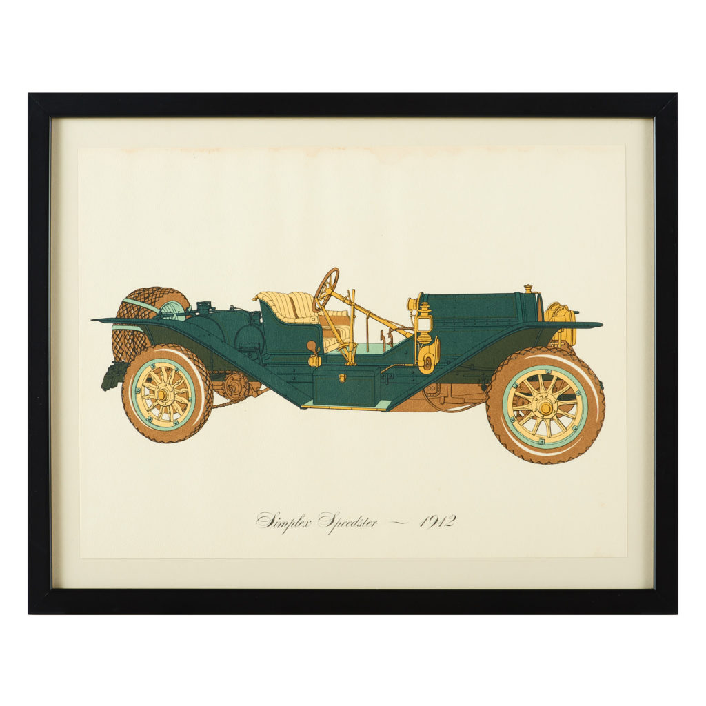 Original 'Gallery of the American Automobile' Screenprint,-0
