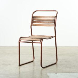 PEL tubular steel stacking chair,-0