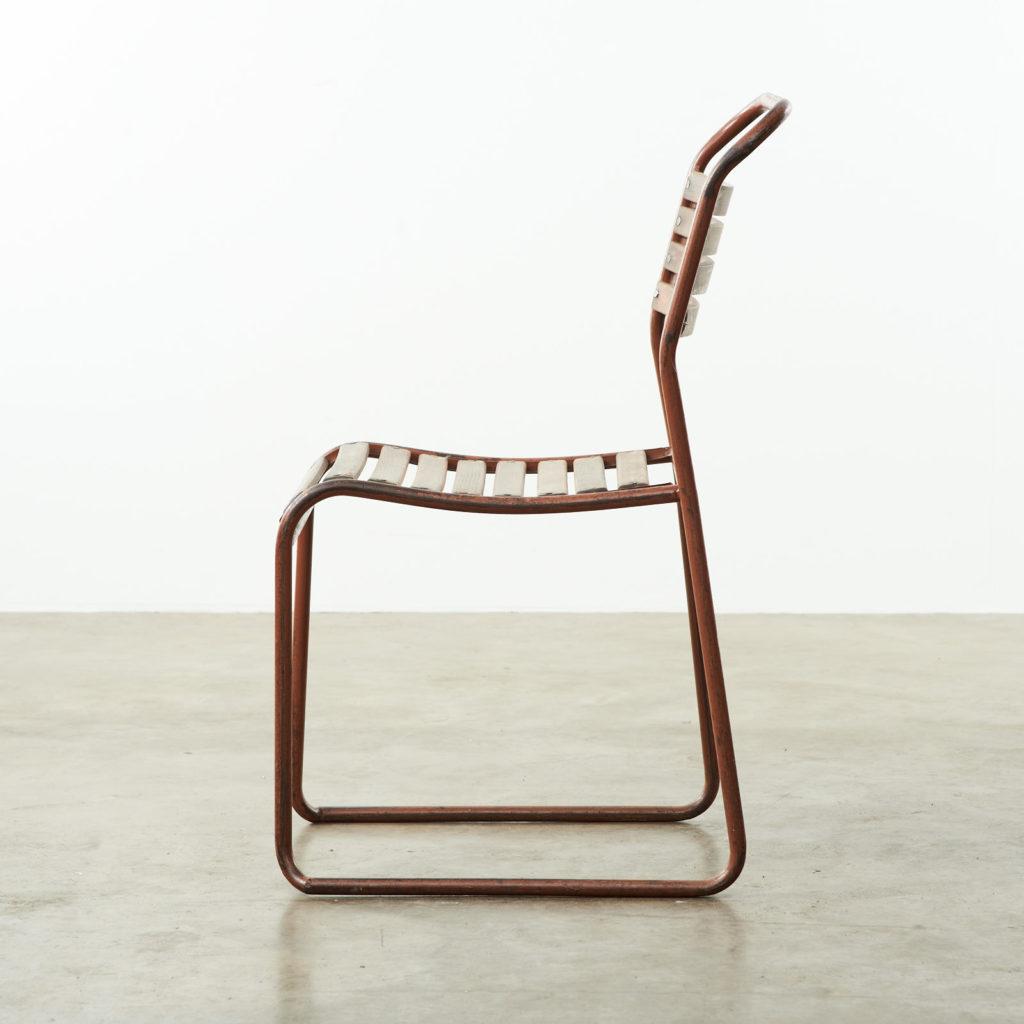 PEL tubular steel stacking chair,-102844