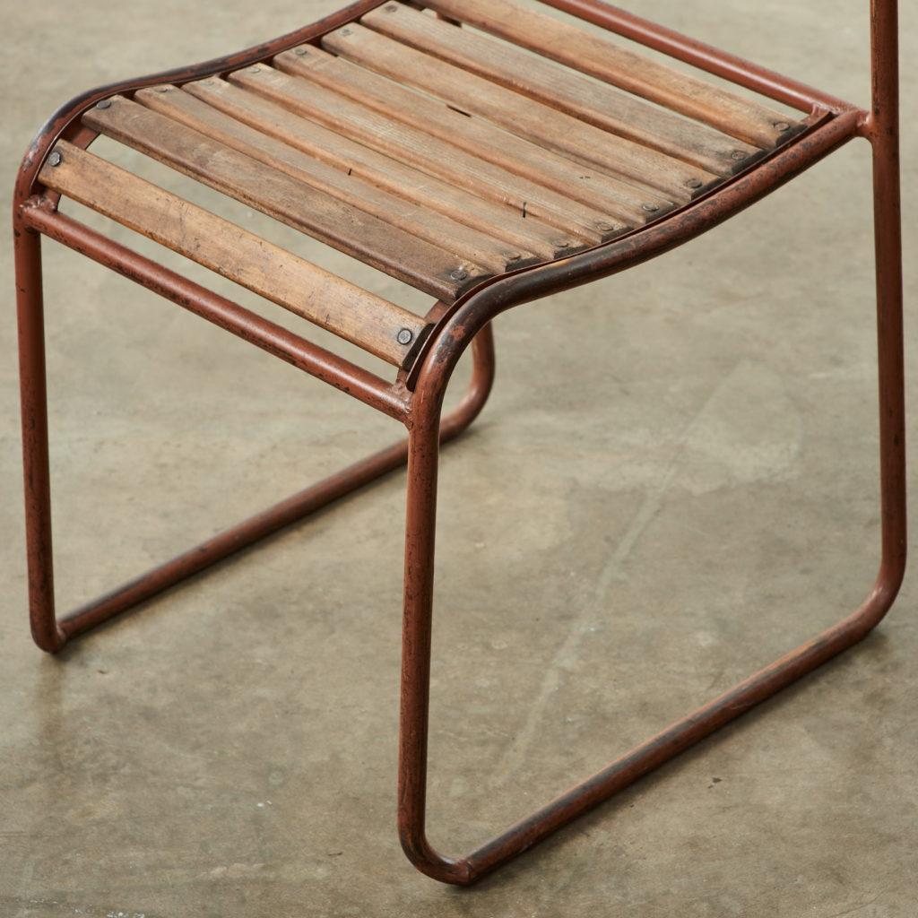 PEL tubular steel stacking chair,-102838