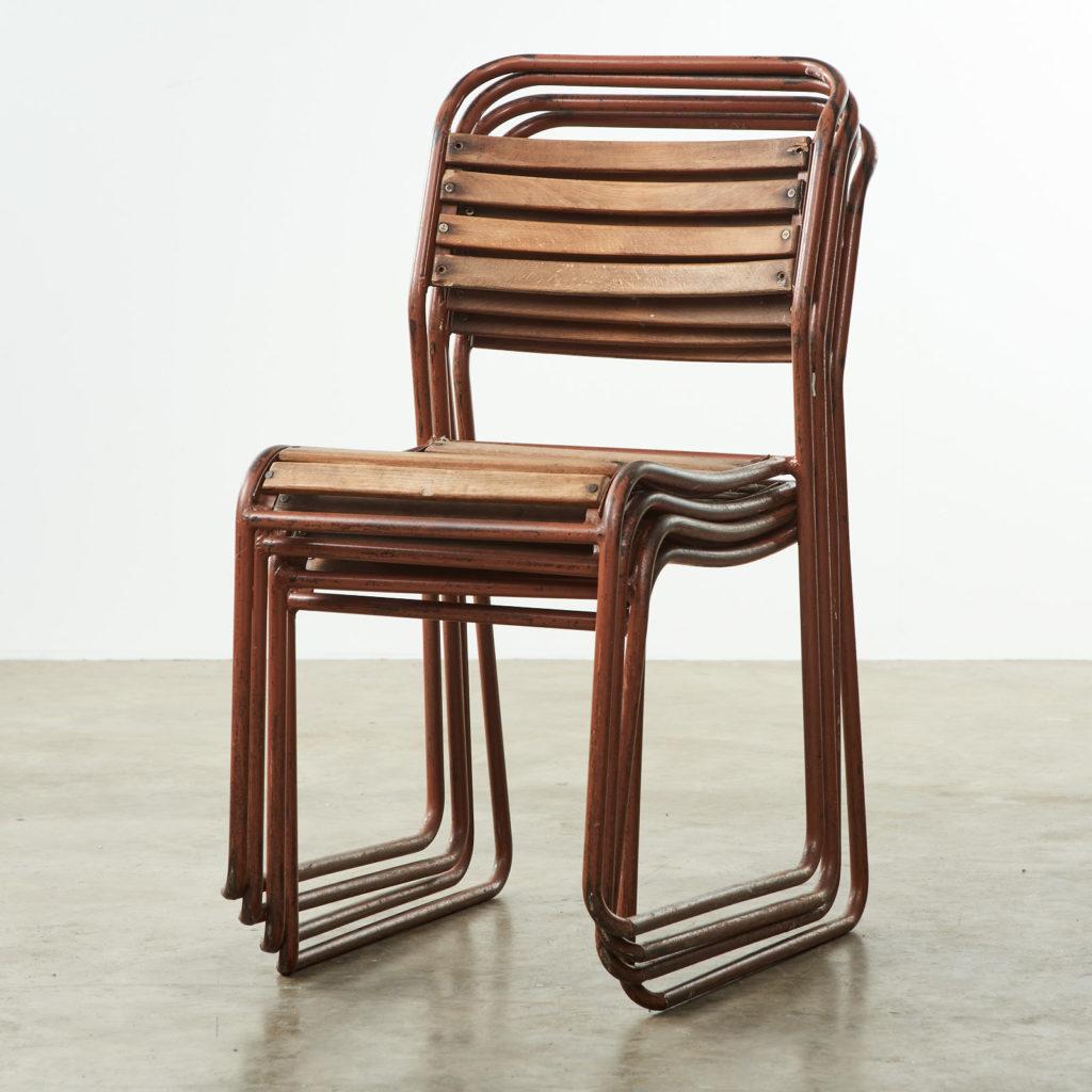 PEL tubular steel stacking chair,-102841