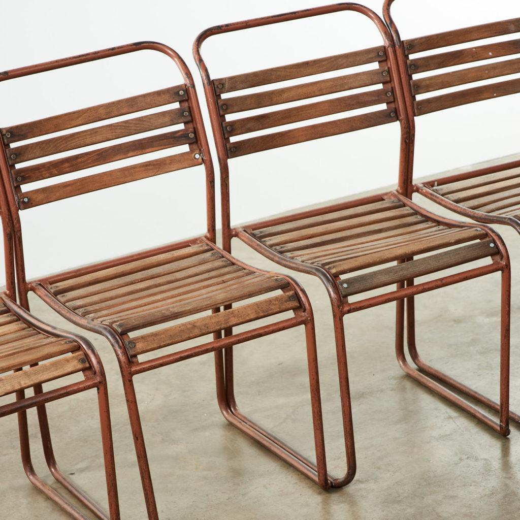 PEL tubular steel stacking chair,-102837
