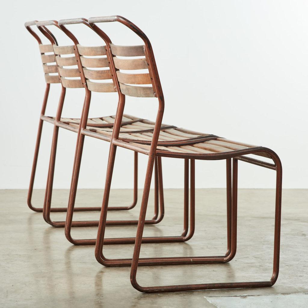 PEL tubular steel stacking chair,-102835