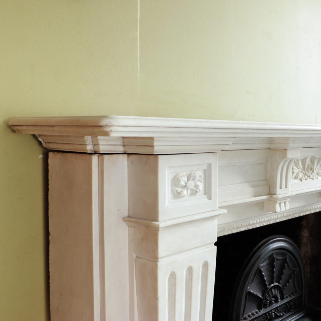 Large late-nineteenth century statuary marble chimneypiece,-102742