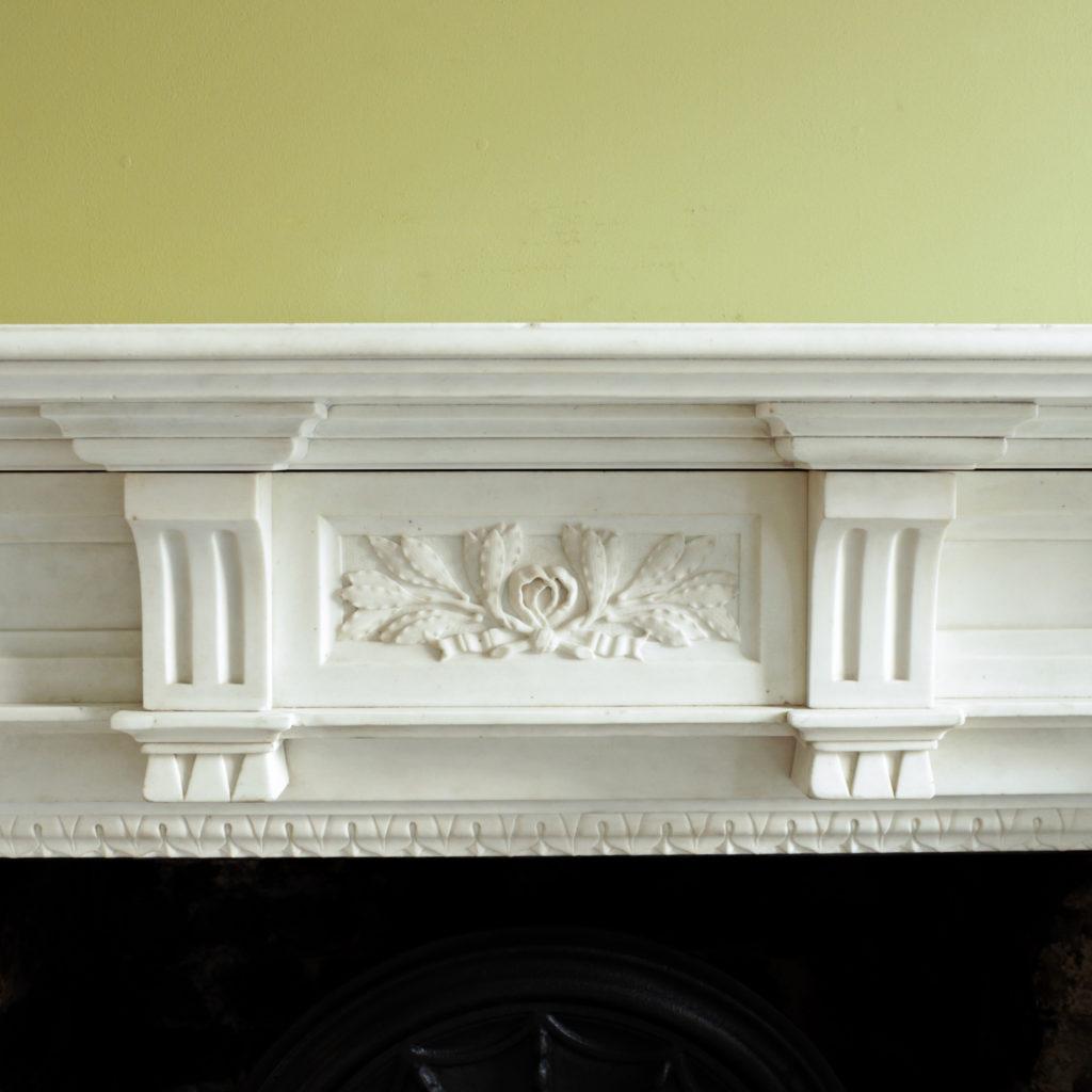 Large late-nineteenth century statuary marble chimneypiece,-102738