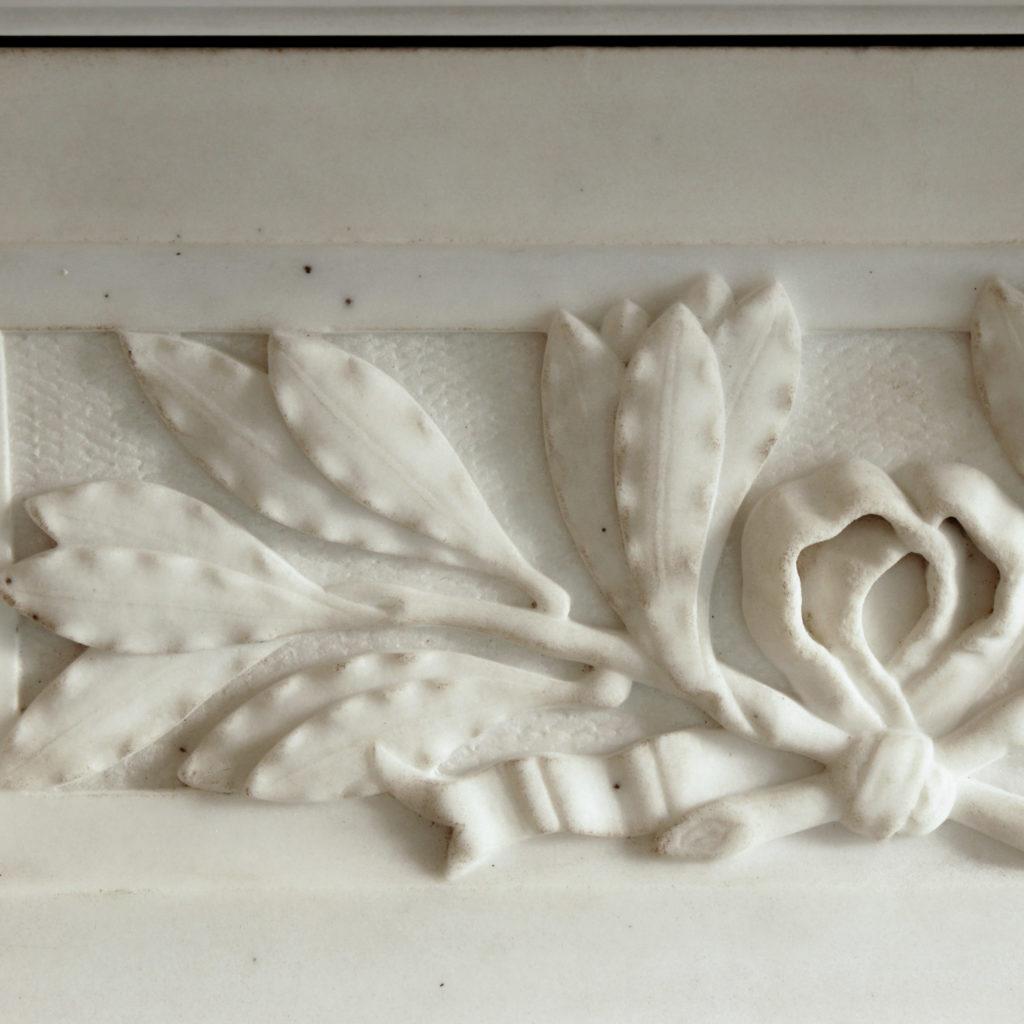 Large late-nineteenth century statuary marble chimneypiece,-102737