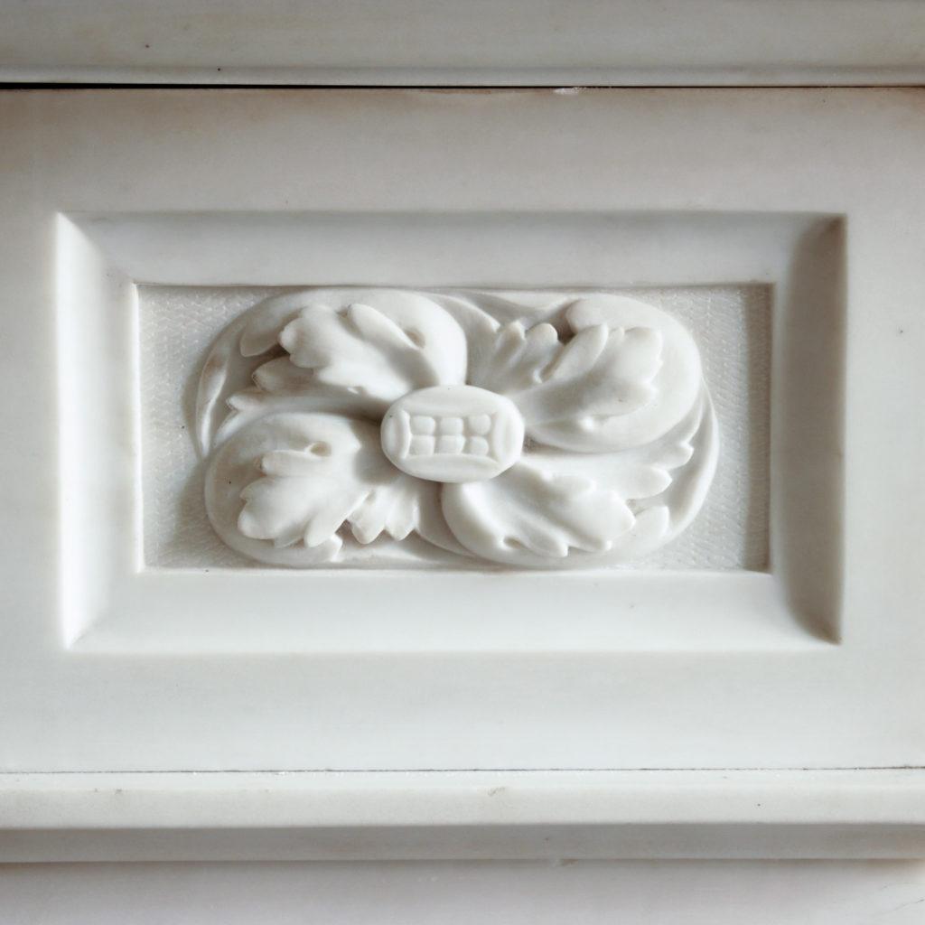 Large late-nineteenth century statuary marble chimneypiece,-102739