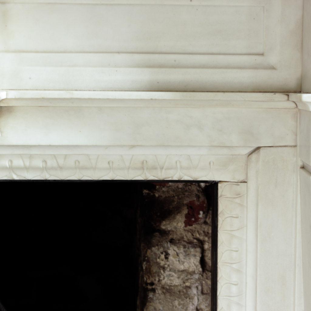 Large late-nineteenth century statuary marble chimneypiece,-102749