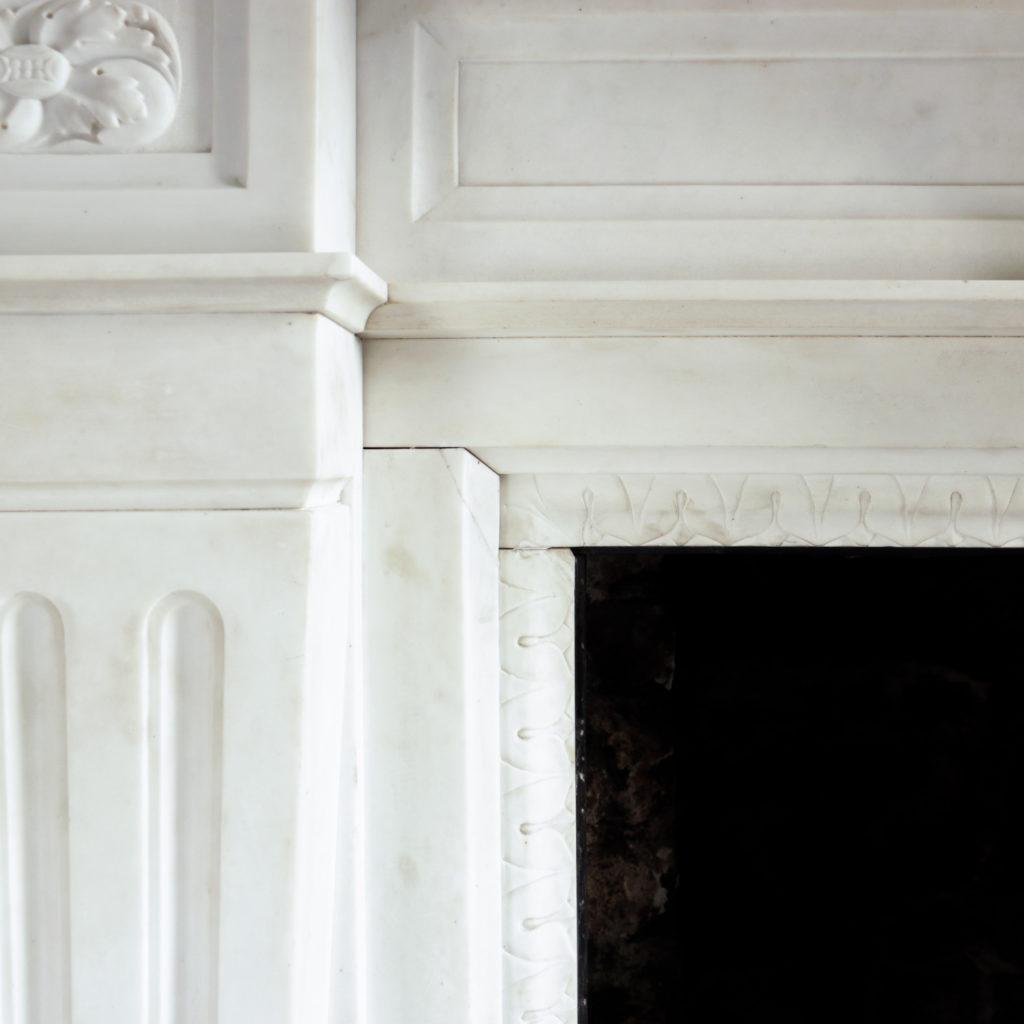 Large late-nineteenth century statuary marble chimneypiece,-102748
