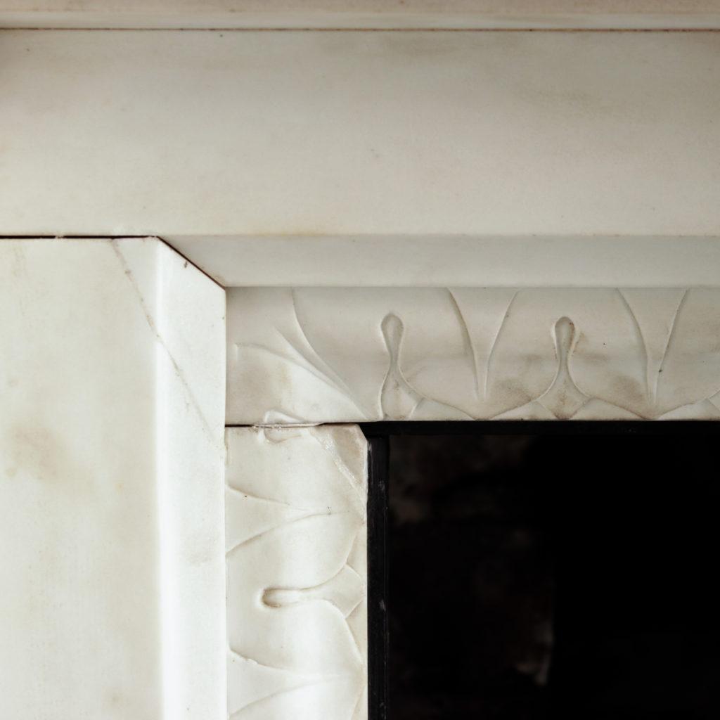 Large late-nineteenth century statuary marble chimneypiece,-102743