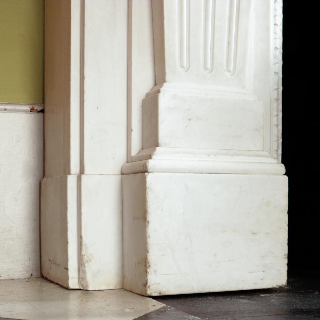 Large late-nineteenth century statuary marble chimneypiece,-102746