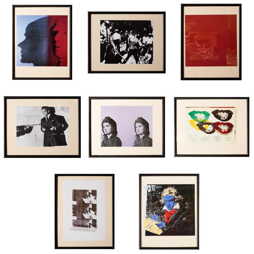 Framed Andy Warhol print,-102529
