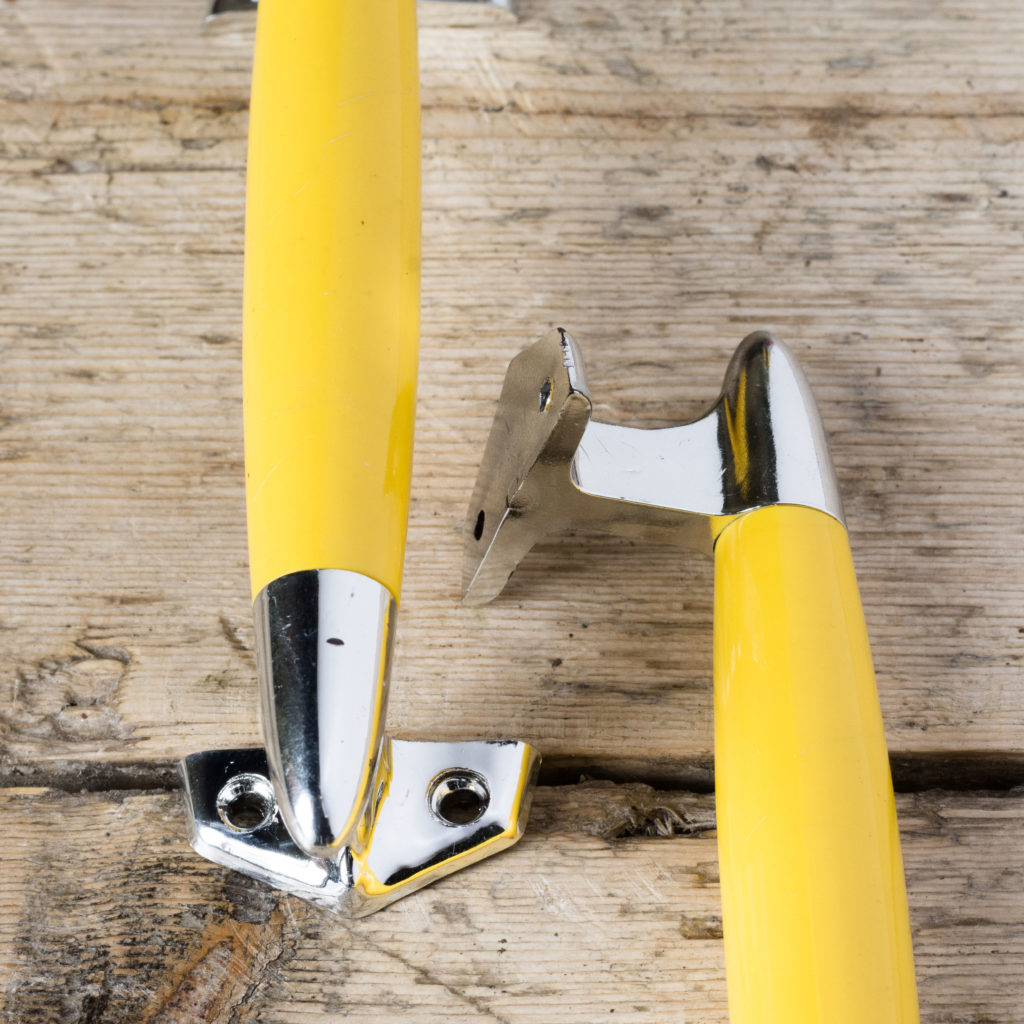 Pair of modern acrylic 'retro' cupboard handles,-103879