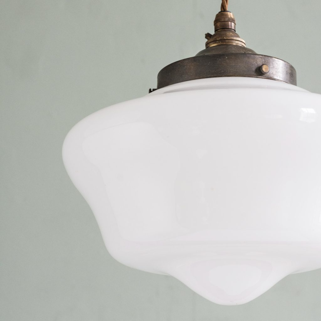 Edwardian opaline pendant light,-103921