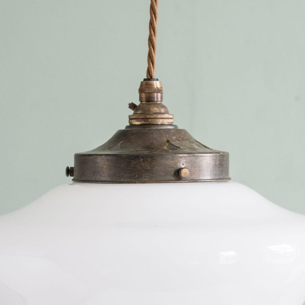 Edwardian opaline pendant light,-103922