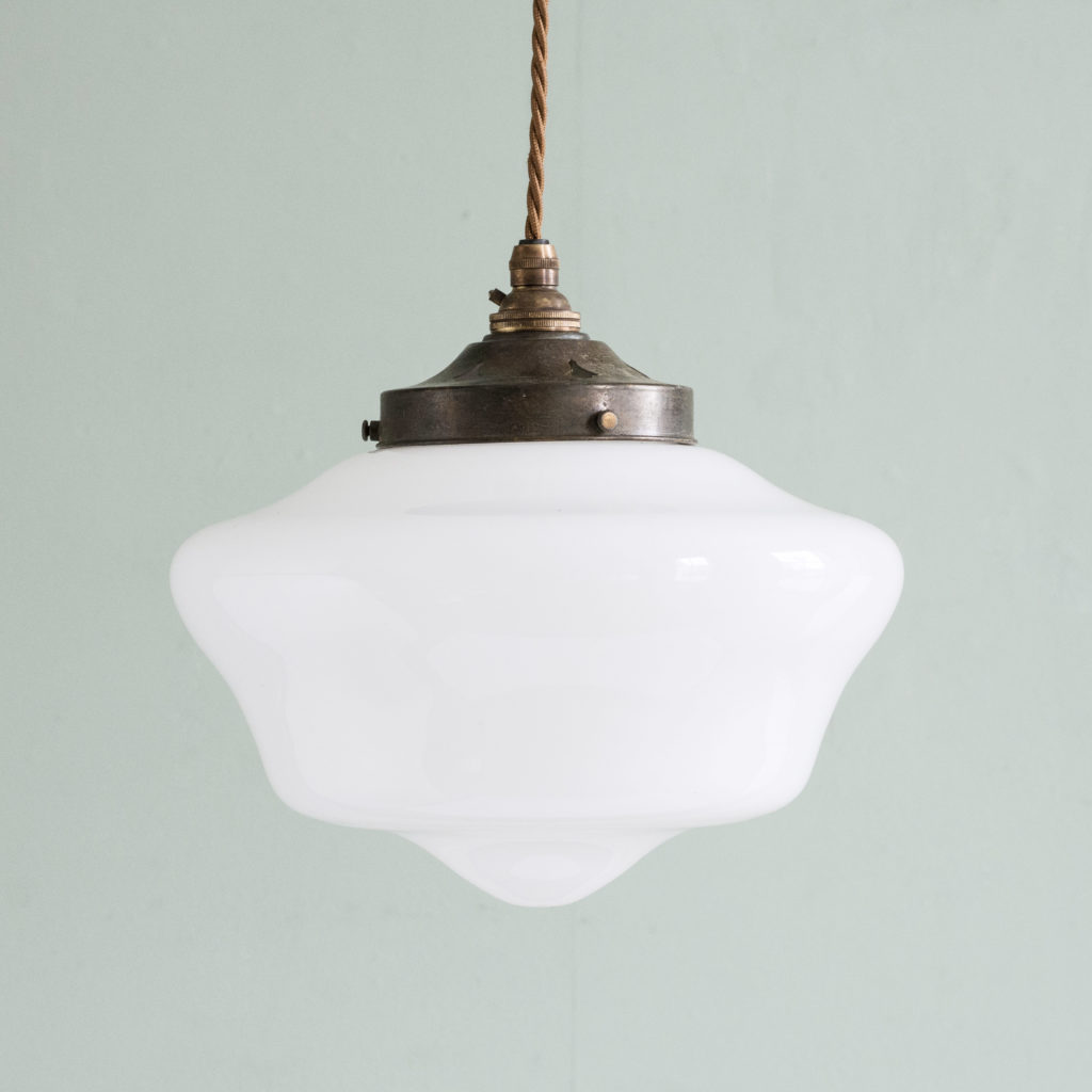 Edwardian opaline pendant light,-0