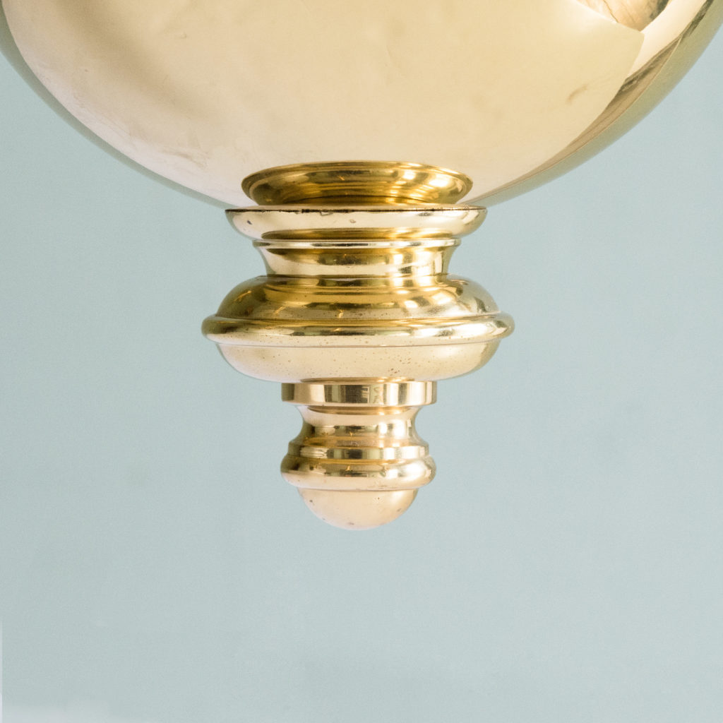 Two brass Flemish style chandeliers,-103925