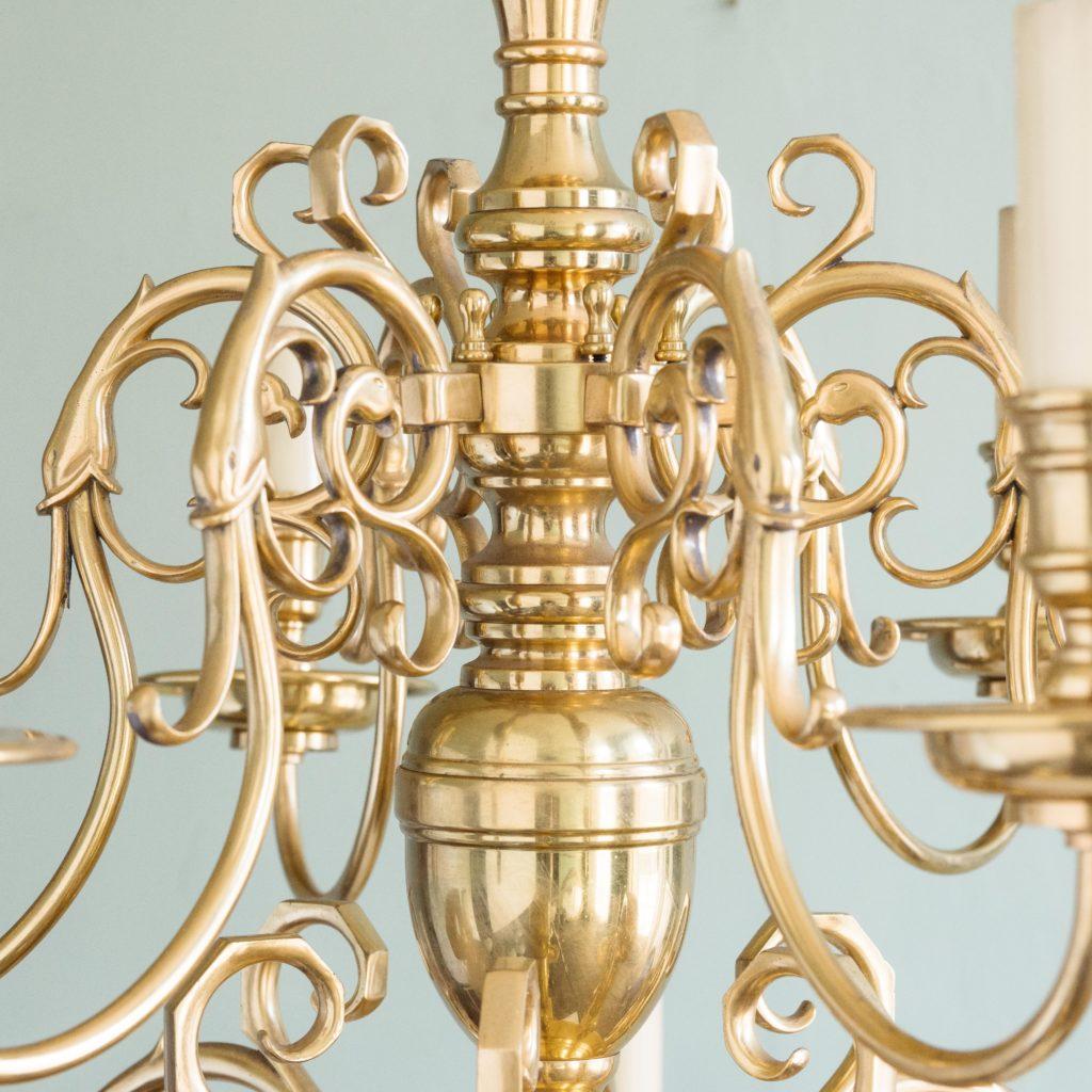 Brass Flemish style chandelier,-103940
