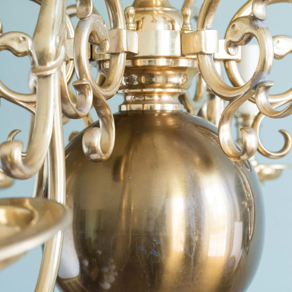 Brass Flemish style chandelier,-103937