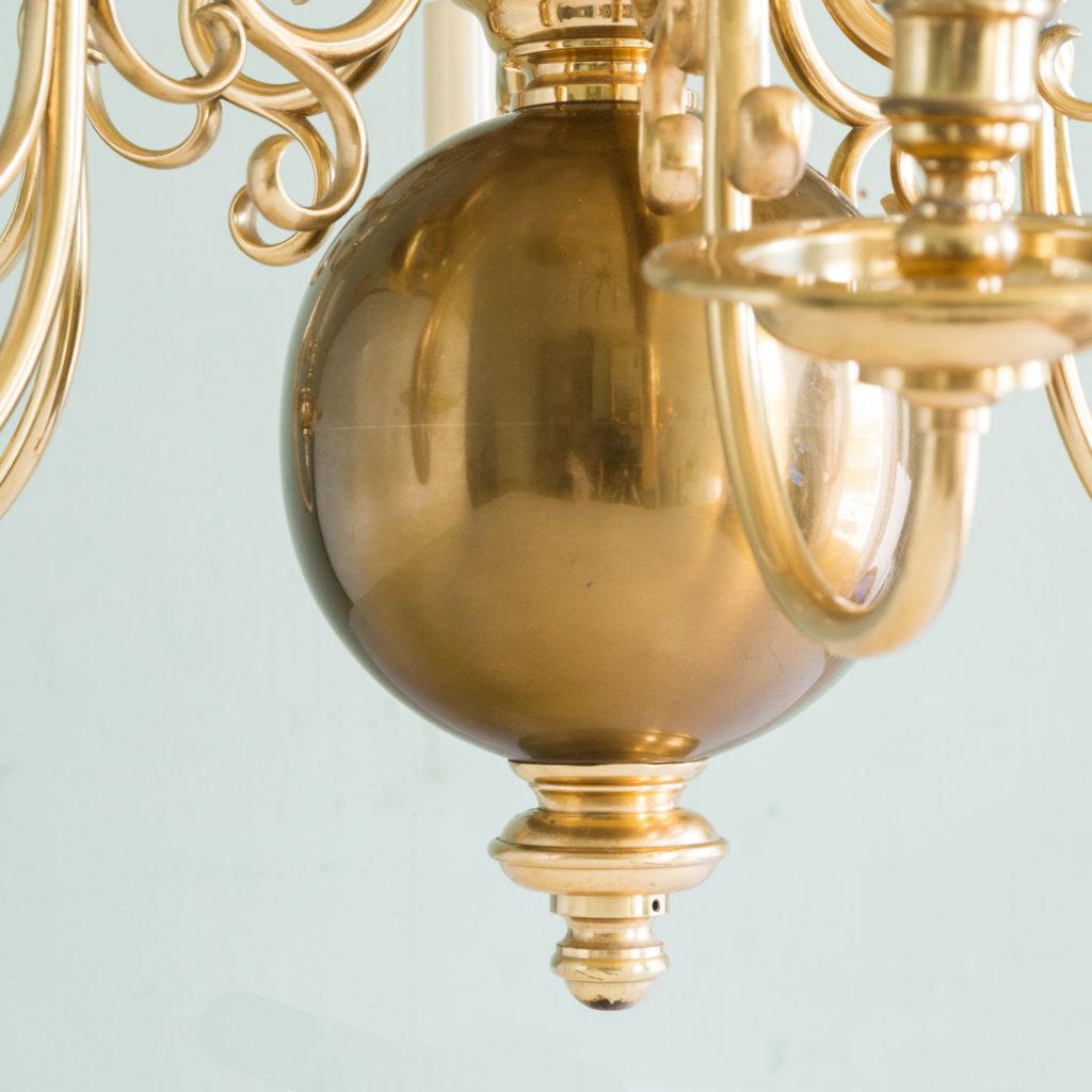 Brass Flemish style chandelier,-103941