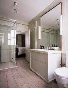Reclaimed Georgian Pine  in a modernised bathroom