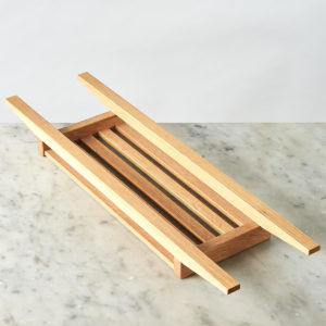 An Oak bath tidy,-0