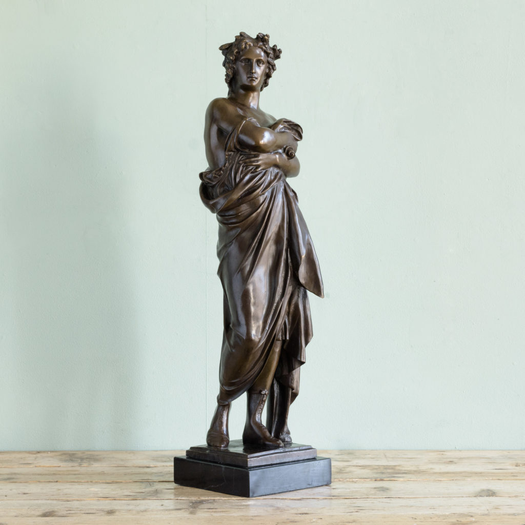 Bronze of Virgil holding a copy of the Aeneid,-103523