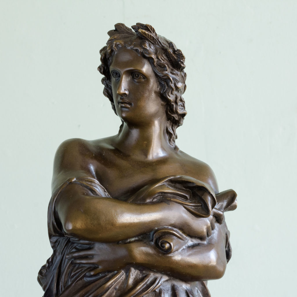 Bronze of Virgil holding a copy of the Aeneid,-103512