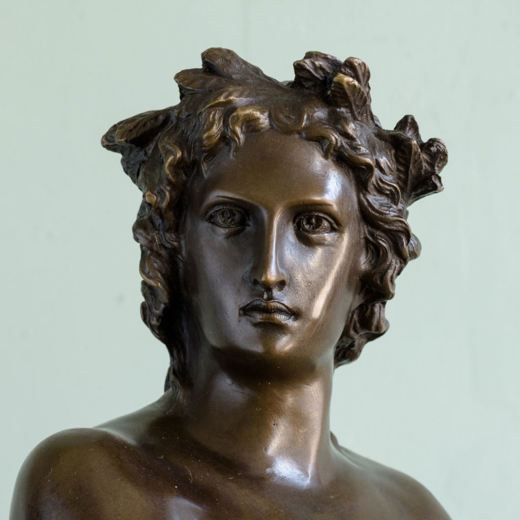Bronze of Virgil holding a copy of the Aeneid,-103517